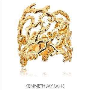Kenneth Jay Lane Gold Branch Cuff Bracelet